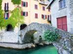 Roman bridge in the town of Nesso