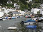 Fishing village of Polperro on the South Cornish coast
