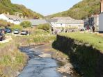 Looking into Boscastle from the harbour.  Pretty village with walks and history