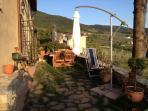 First level of backyard garden