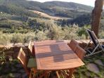 Patio table with panoramic view