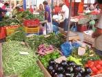 Open market every Saturday, Kalidromiou street