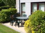 55 Upper Maen Cottage has its own patio area.
