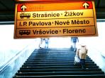 Direction IP Pavlova to reach the apartment from Namesti Miru Station, 200m far from the apartment