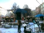 The market in Tylovo Square, 50m far from the apartment