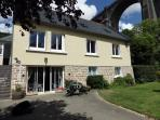 Lovely spacious house overlooking the River Aulne