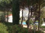 La vue de la maison en arrivant au Pré de Pauline