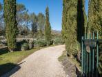 The entrance to the garden