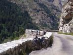 Some of the best road cycling in the world - my bike, ridden from the door!