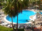 One of the three swimming pool views from the balcony