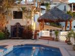 Pool, Palapa and Waterfountain