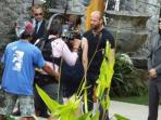 Shooting a Scene with Jason Statham during Hollywood production at the villa