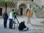 Jasmine filming in Caravigno