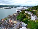 St.Colmans Cathedral Vista over Cork Harbour