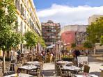 Plaza de la Merced, 300 meters from the apt.