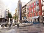 Plaza de Uncibay, 200 meters from the apt.
