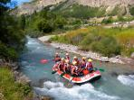 Rafting close to the Pyrénées