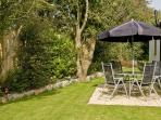 Secluded Garden of Crib Goch Cottage at Cerrig y Barcud Cottages