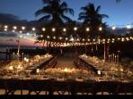 What better way to celebrate then under the stars on your own private beach!