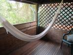 relax and read a book in the hammock
