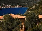 Villa Noe with a view over to Sivota Bay.