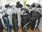FREE of charge GOLF CLUBS for your own use are these graphite clubs. 2 Mens, 1 Ladies and 1 Childs.