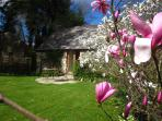 Stroll around Sandhill House's horticultural treasure trove gardens or relax in the water gardens