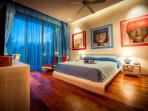 Blue bedroom - modern Chinese style