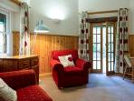 Lounge with French Doors leading onto the Private Garden