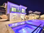 Villa Troya with spacious sun terrace for dining or relaxing.