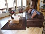Pleanty of comfortable seating in the living room