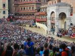 Palio race in Siena