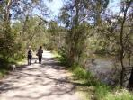 Enjoy the many walking paths by the Yarra in Warrandyte, then relax at one of the many cafe's