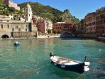 The view of Vernazza from the pier