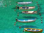 Boats floating on the sea