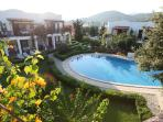 Balcony view of pool