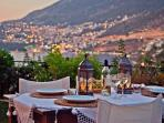 Outside dinner with kalkan view