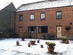 The cottage is available year round and is especially cosy in the heart of winter and Christmas.