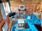 Cosy interior with free WiFi, flat screen Smart TV, XBOX 360, blu ray player, DAB/CD with aux in.