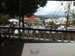 Asklipio only 4 km away - view from cafe