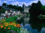 Josselin (20 min drive) - incredibly pretty medieval town and chateau on the river