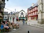 Josselin - eat out and watch the world go by in the town square