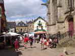 Josselin on market day