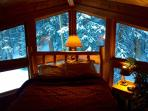 You get to wake up to this.  Whole forest is illuminated at night with 50 outdoor lighting fixtures!