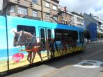 tramway parcourant toute la côte belge - pratique !