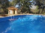 Sauna y piscina