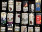 A selection of local wines from the Texas Hill Country - local wine tasting tours available