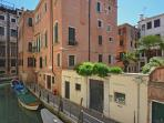 canal view enjoyable from the Biennale apartment terrace