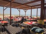 Restaurant bar in beach of Cabanas