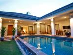 Private pool villa sleeping up to 6 people - has 2 single beds